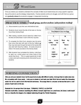 Word Lists – Letter Sounds Activity