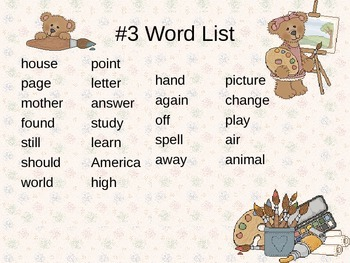 Word Lists PowerPoint