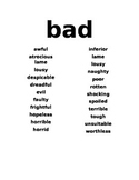 Word Lists - Synonyms