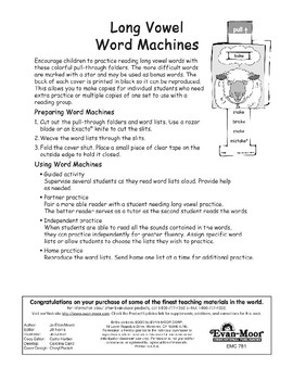 Word Machines: Long Vowels (long i/silent e, long o/silent e)