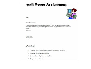 Word-Mail Merge Assignment