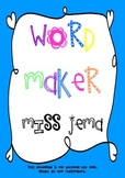 Word Maker - 2 Letter Initial Blend Printable Activity