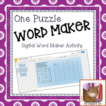 Word Maker Game - One Digital Puzzle - Paperless - Google Slides