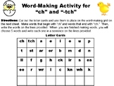 "Word Making Activity for the ""Ch"" and ""tch"" sounds"