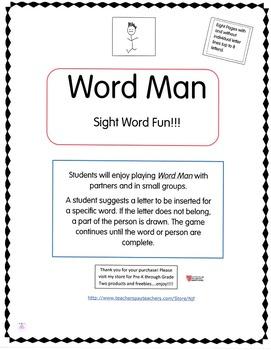 Word Man Sight Word Fun