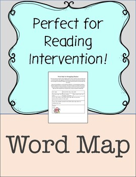 Word Map for Struggling Readers