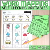 Word Mapping CVC Short Vowel Worksheets - Connecting Phone