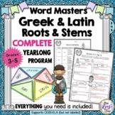 Greek and Latin Roots  YEARLONG Vocabulary Program! 36 Uni