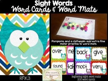 Word Mastery Bundle: Beginning Word Cards and Playdough Mats