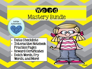 Word Mastery Bundle: Checklists, Certificates, and Interactive Notebook Pages