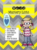 Word Mastery Lists