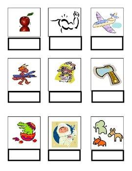 Word Match A File Folder Game Autism ESL