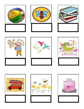 Word Match B- File Folder Game Autism