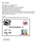 Word Match C File Folder Game Autism