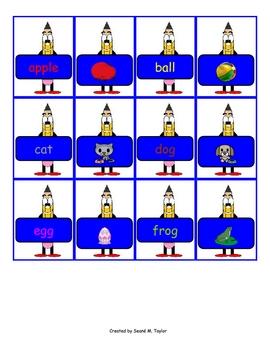 Word Match Center Cards