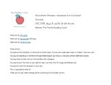 Word Match Phonemic and Phonics Awareness Packet: CVC, CVC