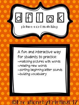 Word Matching (d f l o k)
