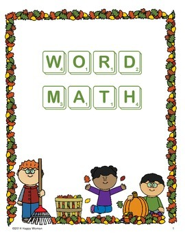 Word Math (using game tiles)