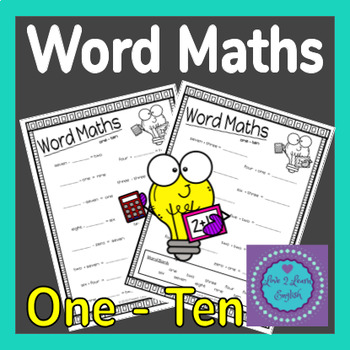 Word Math Problems Worksheets 1 - 10