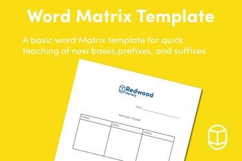 Word Matrix Template