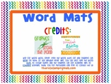 Word Mats - ABC Order