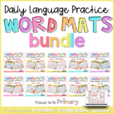 Word Work Daily Language Practice Mats BUNDLE
