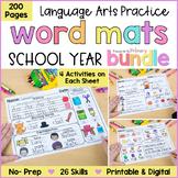 Word Work Activities Bundle  Language Practice   Distance Learning   Homeschool