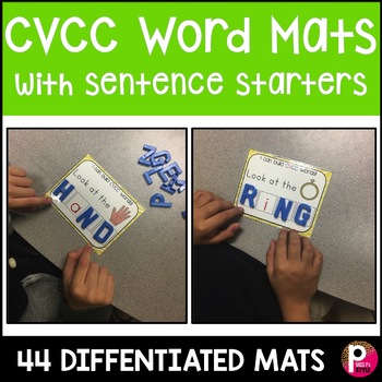 Word Mats Bundle CVC , CVCC , CVCe