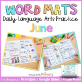 Word Work Activities for June   Distance Learning   Printa