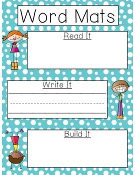 Word Mats - Pre-Primer & Primer Dolch Words