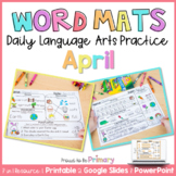Word Work Activities for April   Distance Learning   Print