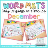 Word Work Activities for December | Distance Learning | Pr