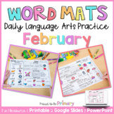 Word Work Activities for February   Distance Learning   Pr