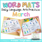 Word Work Activities for March   Distance Learning   Print