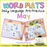 Word Work Activities for May   Distance Learning   Printab