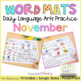 Word Work Activities for November | Distance Learning | Pr