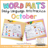 Word Work Activities for October   Distance Learning   Pri