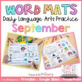 Word Work Activities for September| Distance Learning | Pr