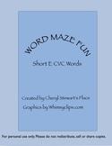 Word Maze Fun-Short e CVC words