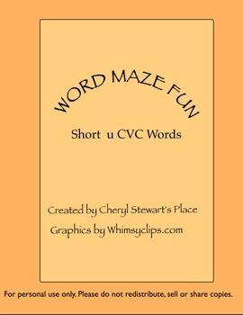 Word Maze Fun-Short u CVC