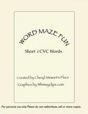 Word Maze Fun-short i cvc