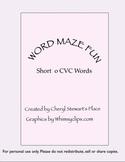Word Maze Fun-short o cvc