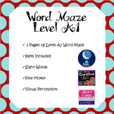 Sight Word Maze Level A1
