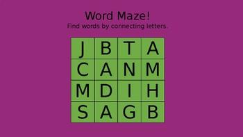 Word Maze! PowerPoint