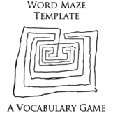 Word Maze Template - A Vocabulary / Terms Review Activity