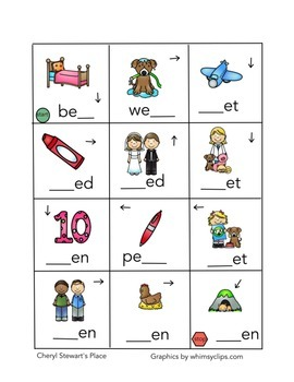 Word Maze Word Fun-Short Vowels CVC Words Bundle