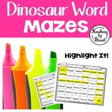 Decoding Multisyllabic Words MAZES DINOSAUR WORDS