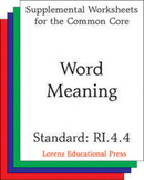Word Meaning (CCSS RI.4.4)