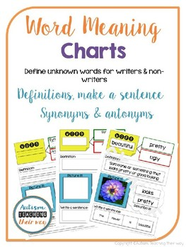 Word Meaning Charts