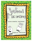 Word Meaning / Context Clues Reading Skill Unit